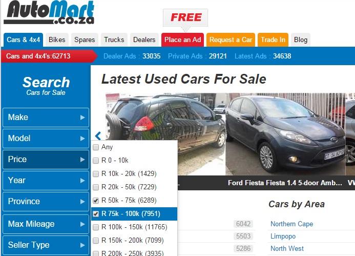 Auto Mart price range