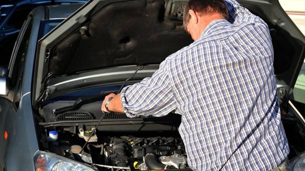 opening car bonnet