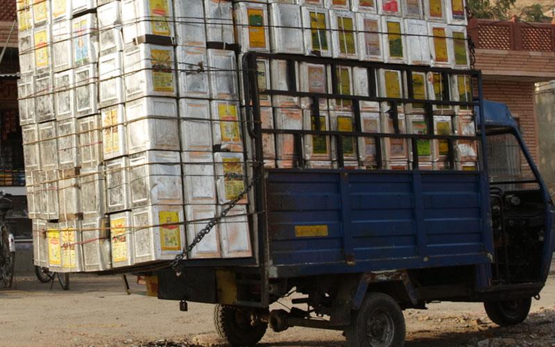 van overloaded