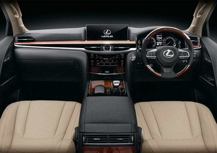 interior of the lexus lx