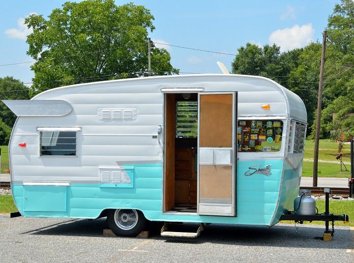 family holiday travel caravan